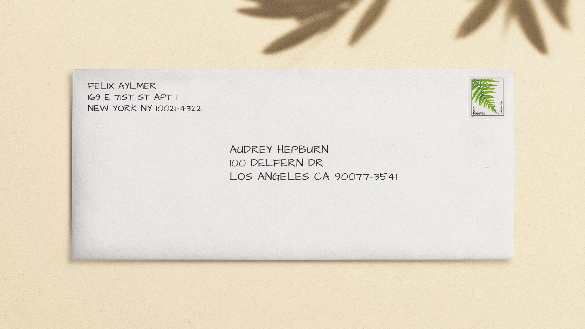 how do i write a return address with an apartment number